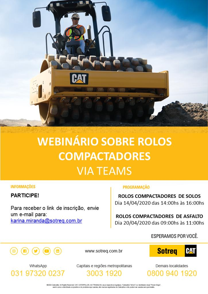 Sotreq realiza webinário sobre rolos compactadores