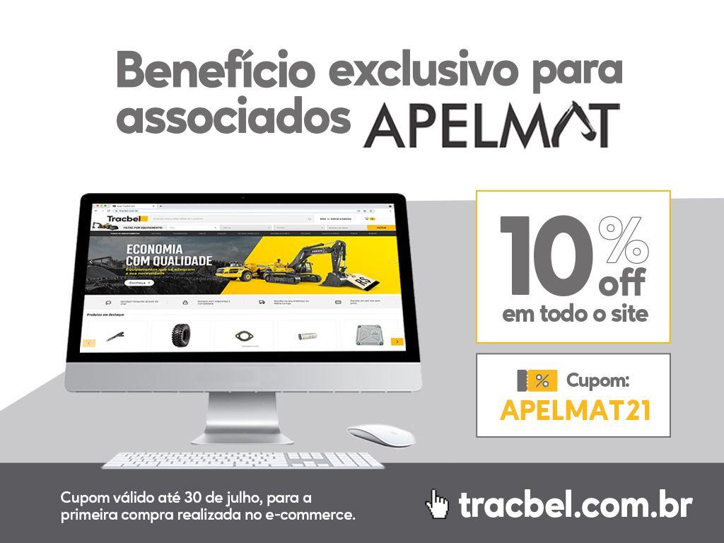 Promoção Tracbel: 10% de desconto para associado APELMAT. Participe!