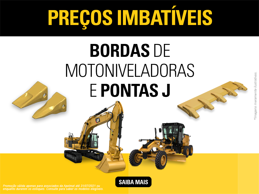 Sotreq faz promoção de bordas de motoniveladoras e pontas J
